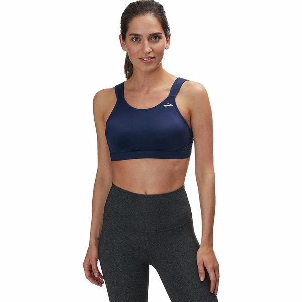 Brooks Maia Sports Bra - Women's Navy, 32C