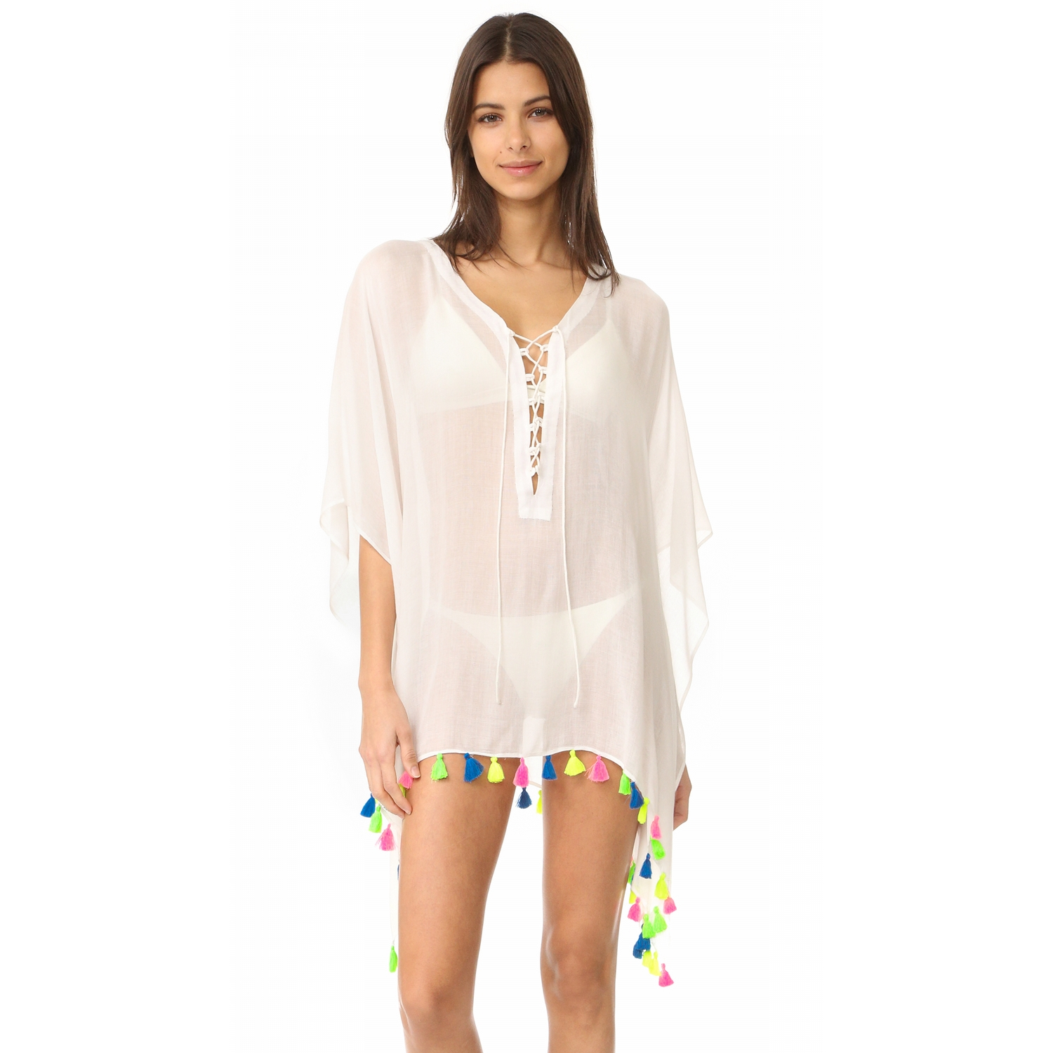 660cf7b62a0 Bindya Lace Up Cover Up Dress - White | Shop Your Way: Online ...