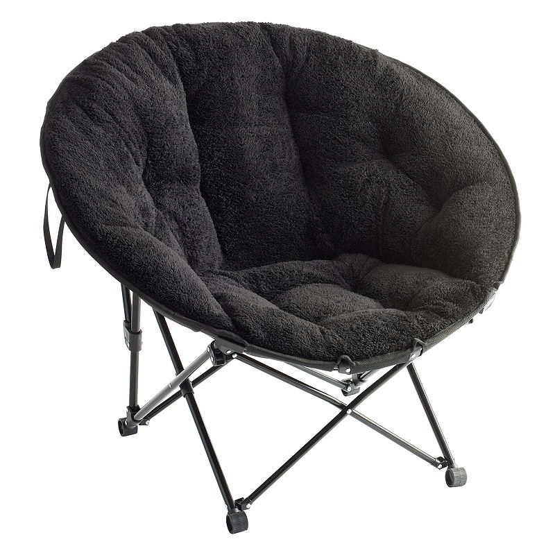 Simple By Design Memory Foam Saucer Chair Black Shop Your Way