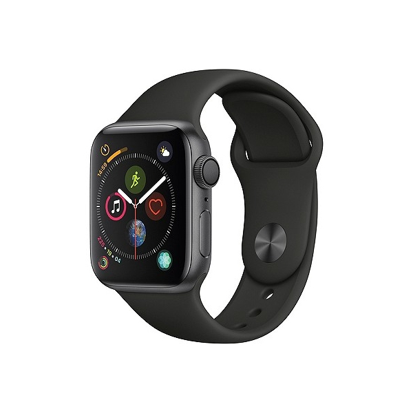 Apple Watch Series 4 Gps 40mm Space Gray Aluminum Case with Sport Band - Black, Black Sport Band